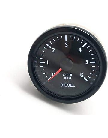 CarLab - Calibre de tacómetro eléctrico para Motor diésel (52 mm, 0-6000