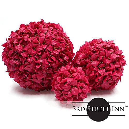 Plum Topiary Ball Assortment - 15