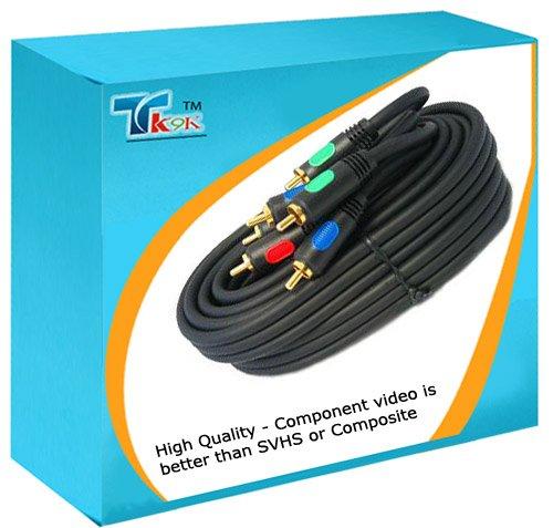 TK9K[TM] 5m RGB Component Video HD Cable Lead YpbPr GOLD YUV 15' RED-TEC