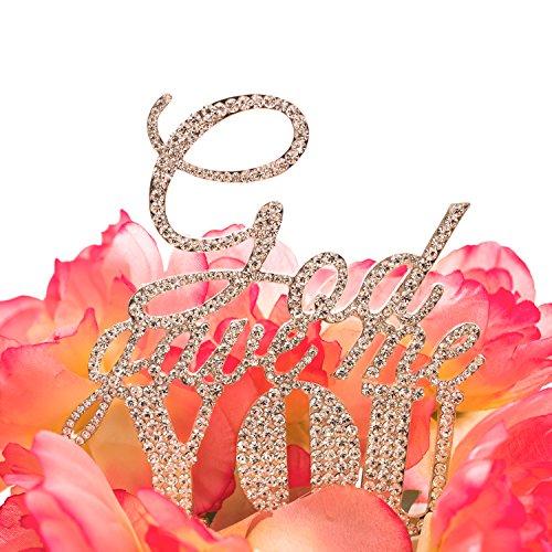 Sparkle Rhinestone Gave Wedding Topper product image