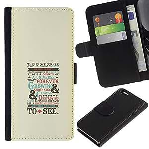 NEECELL GIFT forCITY // Billetera de cuero Caso Cubierta de protección Carcasa / Leather Wallet Case for Apple Iphone 6 // Oldschool Guión