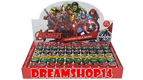 Marvel's Avengers Self Ink Stampers Full Party Favor Box 60pcs