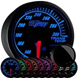 GlowShift Elite 10 Color Transmission Temperature Gauge by GlowShift