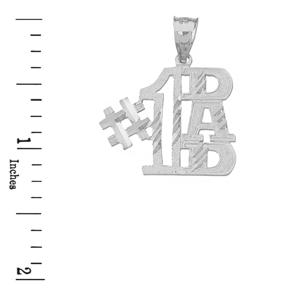 Charm #1 Dad Pendant Necklace (18'' Chain + Sterling-Silver) by Men's Fine Jewelry (Image #2)