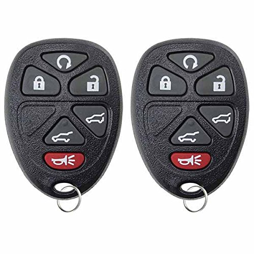 KeylessOption Keyless Entry Remote Control Car Key Fob Replacement for OUC60221, 15913427 (Pack of 2) (Starter 2007 Remote Tahoe)
