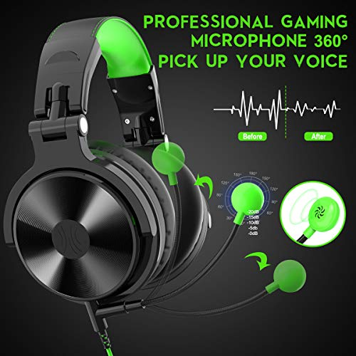 OneOdio Xbox Gaming Headsets – Wired Headphones with Mic/Microphone for PS4 Xbox one Computer Cell Phone PC Laptop Gamer…