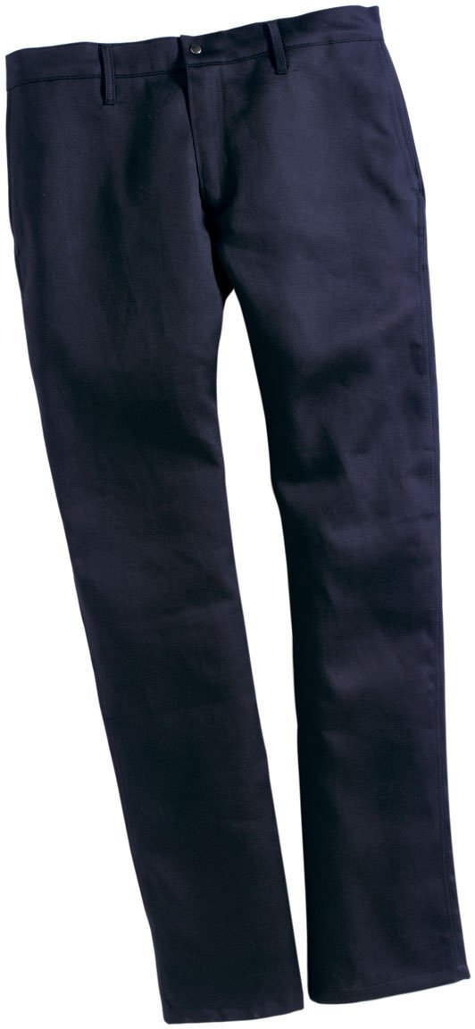 TWIN-PACK - TWO PAIRS OF FR WORK PANTS - SAF-TECH Flame Resistant 9oz. 100% Cotton INDURA Jean Style Work Pant - HRC 2 - MADE IN THE U.S.A. - NAVY BLUE (Waist=56 - Inseam=34)