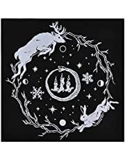 Mgichoom Tarot bordsduk, Sun GodTarot bordsduk 49 x 49 cm, bordsskydd, dekoration, flanellaltare duk tarot bordsskydd tarotdekor hållbar textilier astrologi gobeläng filt svart