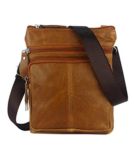 1a90c9d96 Bolso de Cuero de Crossbody para Hombres Mensajero Pequeño Celular Bolsas