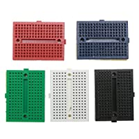 TTnight 5pcs SYB-170 Mini Breadboard Colorful Breadboard Prototype Board Small Plat for Arduino Proto Shield