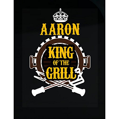 Prints Express Aaron King of The Grill BBQ Cooking - Sticker