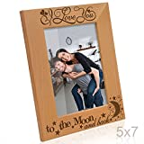 Kate Posh - I love you to the moon and back - Wood Picture Frame (5x7 Vertical)