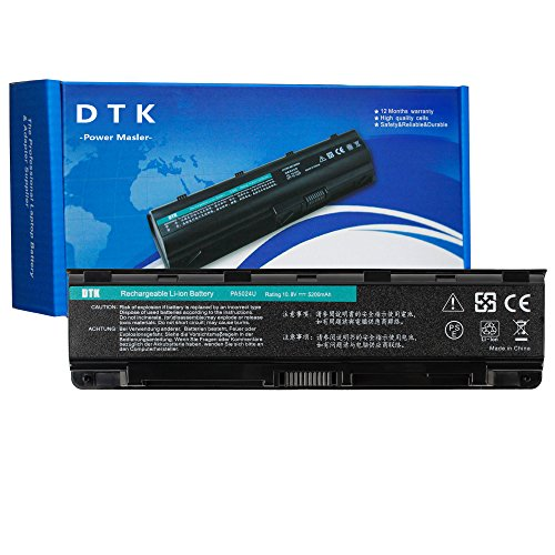 DTK PA5024U-1BRS PA5026U-1BRS Laptop Battery Replacement for TOSHIBA Satellite C845 L850 L855 P855 R945 PA5023U-1BRS PA5025U-1BRS PA5027U-1BRS PABAS260 PABAS262 Notebook 10.8V 4400mAh 6 Cell