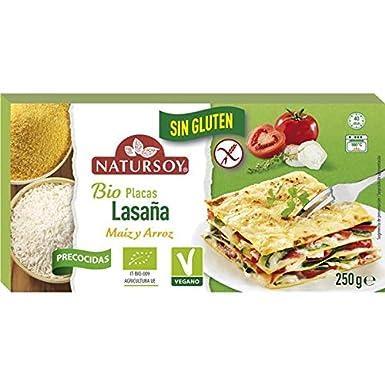 Pasta precocida de lasaña de arroz y maíz Sin gluten 250g ...