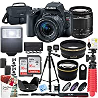 Canon EOS Rebel SL2 24MP DSLR Camera (Body) - Black w/Tascam DSLR Audio Recorder and Shotgun Microphone + 128GB & 64GB Pro Video Bundle
