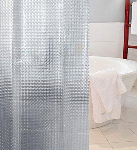 50OFF 3D Crystal Pattern Mildew Free EVA Bathroom Shower Curtain Liner Eco Friendly