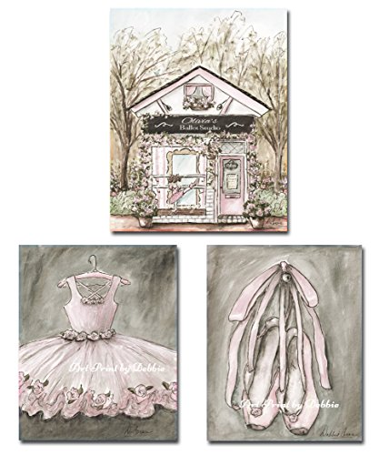 ballerina-dancer-canvas-wall-art-set-of-3-vintage-blush-pink-ballet-canvases-personalize-ballet-stud