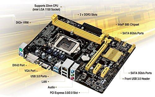 ASUS B85M-K PLUS LGA 1150 Intel B85 DVI VGA USB3.0 mATX Motherboard