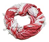 Red Shemagh Scarf Keffieh Kafiya Traditional Arab Checkered Shawl Neck Head Wrap