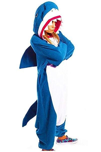 Disfraz de tiburón Infantil, Mono con Capucha de Dibujos Animados ...
