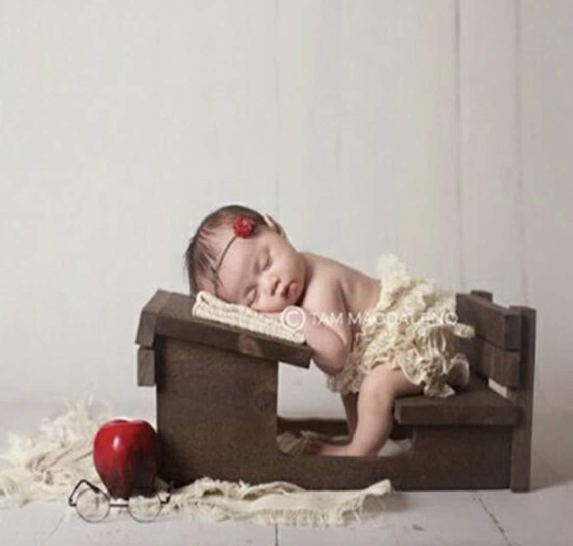 Dvotinst Newborn Photography Props Baby Posing Retro Mini Desk Chair Cute Wooden Fotografia Accessorio Studio Shoots Photo Props