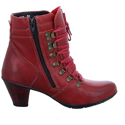 Kristofer zip Vermelho 1235 Mulheres Lace Ankle Boot aqarYXw