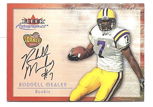 RONDELL MEALEY 2000 Fleer Tradition Autographics AUTOGRAPH ROOKIE Card LSU Tigers Football ()