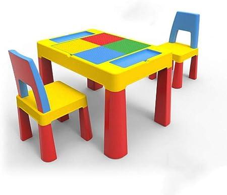 Tavoli E Sedie In Plastica Per Bambini.Qkdsa Blocchi Di Plastica Per Bambini Set Di Tavoli Attivabili Per