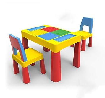 Tavoli E Sedie In Plastica Per Bambini.Qkdsa Blocchi Di Plastica Per Bambini Set Di Tavoli