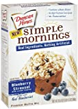 Duncan Hines Simple Mornings Blueberry Streusel Muffin Mix, 20.5-Ounce Boxes (Pack of 6)