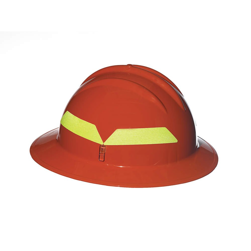 Fire Helmet, Orange, Full-Brim by Bullard