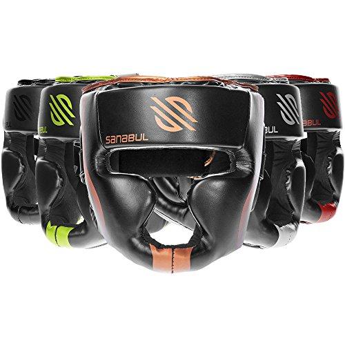 Sanabul Essential MMA Boxing Kickboxing Head Gear (Copper, L/XL)