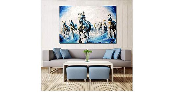 YuanMinglu Pintura Moderna de Animales Pintura de Caballos ...