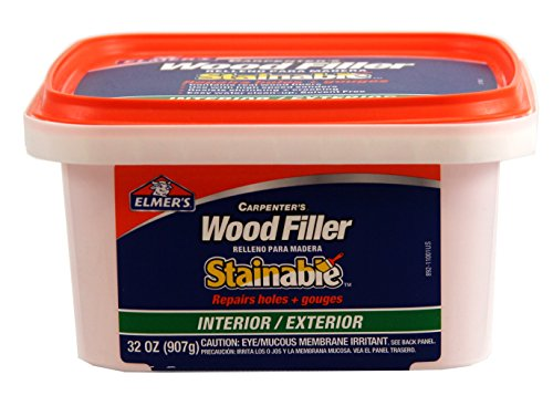 Elmer 39 s e892 stainable wood filler 32 oz for Exterior wood filler paintable