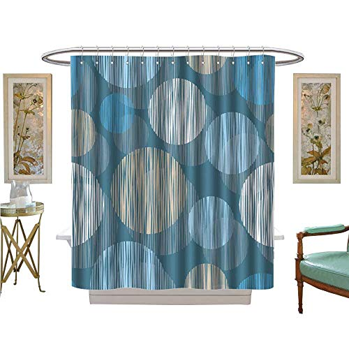 luvoluxhome Shower Curtains 3D Digital Printing Vector Background with Decorative Circles Print Cloth Design Wallpaper Satin Fabric Sets Bathroom W72 x L96