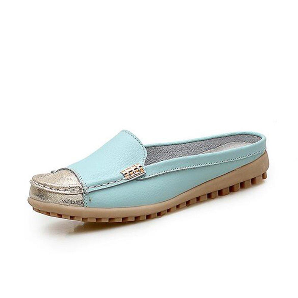 Zapatos Ocasionales de Las Mujeres Zapatos de Las Mujeres de Gran Tamaño Juegos Respirables de Zapatillas de los pies Zapatos de Cuero de Las Mujeres de Las Mujeres (Color : Azul, Tamaño : 37) 37|Azul