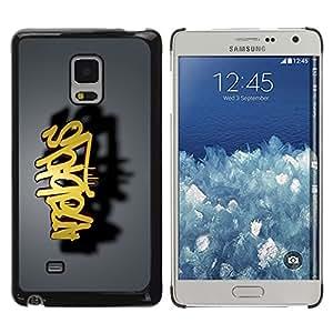 TopCaseStore / la caja del caucho duro de la cubierta de protección de la piel - graffiti - Samsung Galaxy Mega 5.8 9150 9152