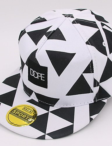 Travel Lattice Caps Printing Summer Geometric Outdoor Women Sunscreen Baseball Cotton ONESIZE BLACK Hat Sun 's GSM Triangular P0fn0B