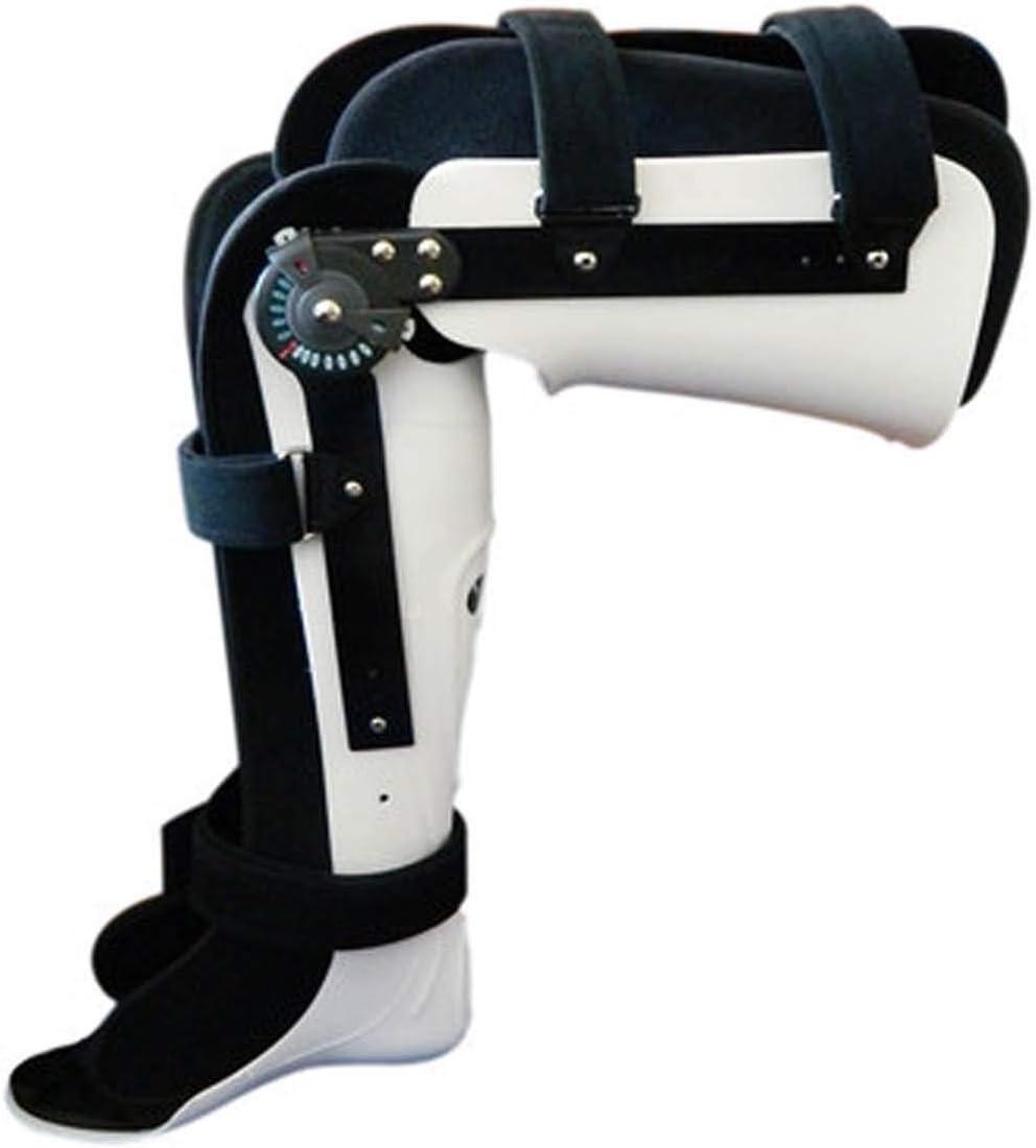 下肢長下肢装具サポート、調整可能なふくらはぎ固定膝蓋骨ブレース装具、調整可能 (Color : Left, Size : L) Left Large