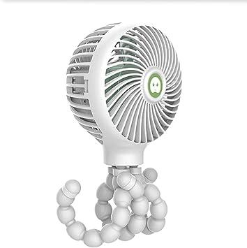 YONGYONG-fan Ventilador Pequeño De Deformación De Pulpo Viento Grande De Tres Velocidades Que Carga Mini Ventilador Pequeño De Mano (Color : White, Size : 4.3 * 1.1in): Amazon.es: Electrónica