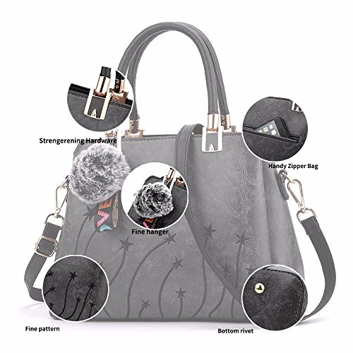 Handbags Retro Bags Soft Leather Capacity Large Womens Shoulder Vintage Casual Lady Messenger Tan Grey Tote BMKWSG Briefcase qw60Ig