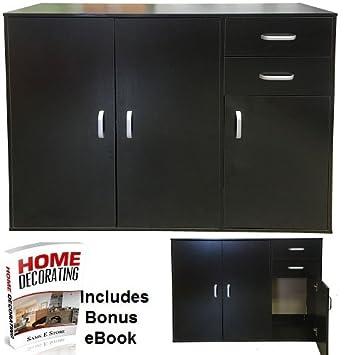 Ssf Sideboard 3 Turen 2 Schubladen 1 Einlegeboden Home Wohnzimmer