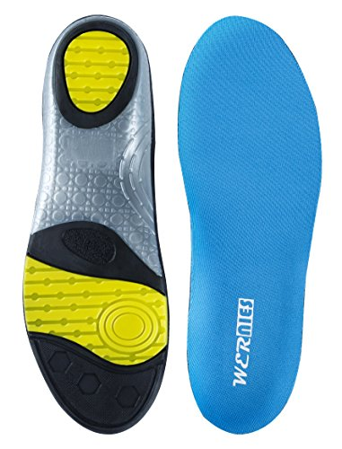 WERNIES Athlete Shoe Inserts for Men Women, Neutral Arch Comfort Insole, Mens Running Insoles, Sneaker Inserts for Running, Sky Blue Size XL by WERNIES