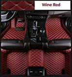 for Dodge Challenger 2015-2018 Car Floor Mats Custom Luxury FloorLiner Pads Protector Auto Mats Carpets (Wine Red,2018)