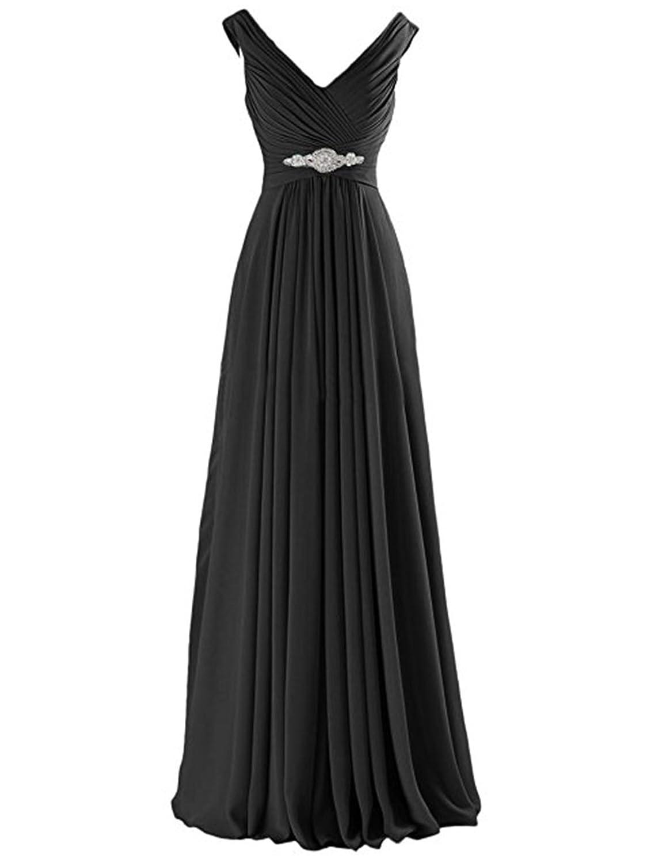 Lisianthus Lisianthus002 Women's Long V-Neck Wedding Gown Bridesmaid Dress  6-22: Amazon.co.uk: Clothing