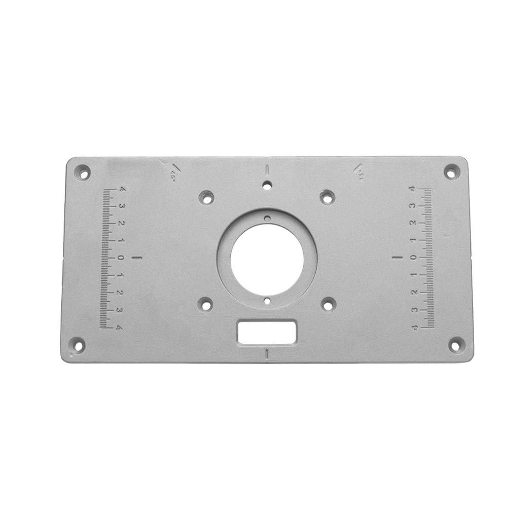 Router multifunzionale Tavolo inserto piastra Panchine per la lavorazione del legno Alluminio Router di legno Trimmer Modelli Macchina per incidere con 4 anelli Strumenti
