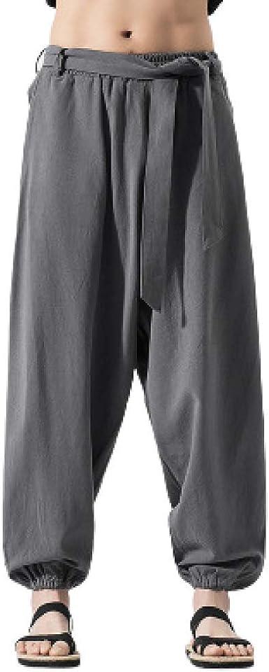 Pantalones Tai Chi Pantalones De Artes Marciales Para Hombre Pantalones De Lino Kung Fu Pantalones De Linterna De Yoga Pantalones De Chandal Tallas Grandes Pierna Ancha Amazon Es Ropa Y Accesorios