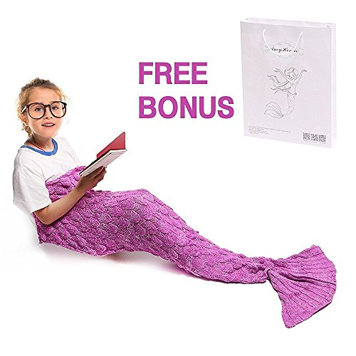 [Amyhomie Childs and Kids Mermaid Tail Crochet Blanket, All Season Sleeping Bag includes customized gift bag , Multiple choices -] (Seahorse Dress Up Costume)