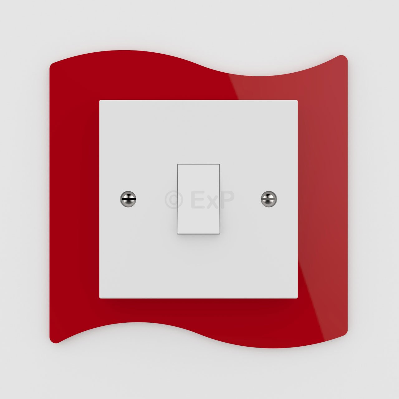 Expression Products Single Light Switch or Plug Socket Back Plate Finger Surround Panel Lime Free Trolley Token Material Sample Included per Shipment