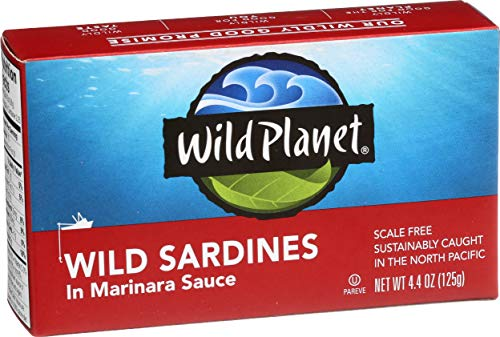 Wild Planet Wild Sardines in Marinara Sauce – 4.4oz Can (Pack of 12)
